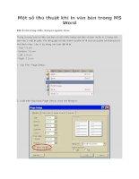 Tài liệu Thủ thuật khi in văn bản trong MS Word docx
