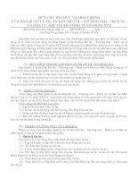 Tài liệu QUY CHẾ TỔ CHỨC VÀ HOẠT ĐỘNG CỦA BAN QUẢN LÝ DỰ ÁN KHU ĐÔ THỊ – THƯƠNG MẠI – DỊCH VỤ VÀ DÂN CƯ ABC THUỘC CÔNG TY CỔ PHẦN XYZ pdf