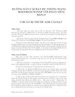 Tài liệu HƯỚNG DẪN CÀI ĐẶT HỆ THỐNG MẠNG BOOTROM WINXP VỚI PHẦN MỀM BXP2.5 ppt