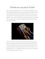 Tài liệu Để thành công trong quản lý tài chính! ppt