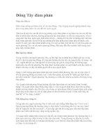 Tài liệu Đông Tây đàm phán pdf