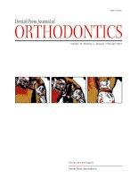 Tạp chí nha khoa dental press journal of orthodontics  tháng 01-02 /2010