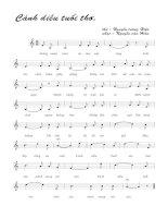 Tài liệu Bài hát cánh diều tuổi thơ - Nguyễn Văn Hiên (lời bài hát có nốt) pdf