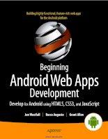 beginning android web apps development