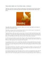 Tài liệu TÌM CÁCH BẢO VỆ THƯƠNG HIỆU –PHẦN 2 pdf