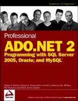 Tài liệu Professional ADO.NET 2 Programming with SQL Server 2005, Oracle and MySQL (P1) docx