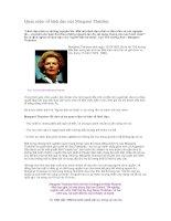 Tài liệu Quan niệm về lãnh đạo của Margaret Thatcher pdf