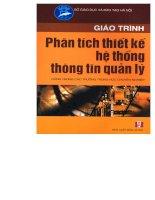 Tài liệu Giáo trình phân tích thiết kế hệ thống thông tin quản lý - Phạm Minh Tuấn ppt