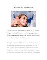 Tài liệu Học cách lắng nghe hiệu quả ppt