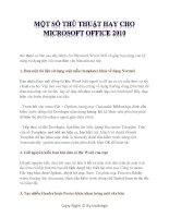 Tài liệu thủ thuật dành cho Microsoft Word 2010 part 1 pptx