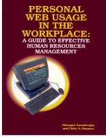Tài liệu Personal Web Usage in the Workplace: A Guide to Effective Human Resources Management Part 1 pdf