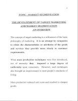 Tài liệu Marketing Management - Market Segmentation ppt
