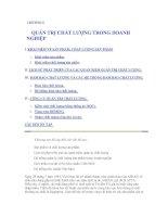 Tài liệu CHƯƠNG 8: QUẢN TRỊ CHẤT LƯỢNG TRONG DOANH NGHIỆP ppt