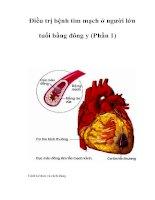 Tài liệu Ðiều trị bệnh tim mạch ở người lớn tuổi bằng đông y (Phần 1) pdf