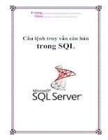 Tài liệu Câu lệnh truy vấn căn bản trong SQL ppt