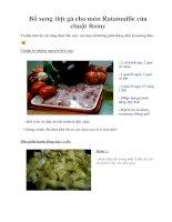 Tài liệu Bổ sung thịt gà cho món Ratatouille của chuột Remy pptx