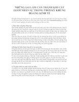 Tài liệu NHỮNG SAI LẦM CẦN TRÁNH KHI CẮT GIẢM NHÂN SỰ TRONG THỜI KỲ KHỦNG HOẢNG KINH TẾ doc