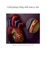 Tài liệu Cách phòng chống nhồi máu cơ tim docx