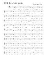 Tài liệu Bài hát góp lá mùa xuân - Trịnh Công Sơn (lời bài hát có nốt) pdf