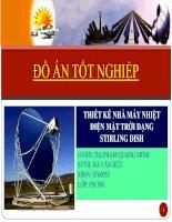 Thuyết trình đồ án: Thiết kế nhà máy nhiệt điện mặt trời dạng Stirling Dish