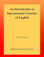 Tài liệu An Introduction to International Varieties of English ppt