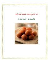 Tài liệu Đề tài: Quả trứng của ai - Lứa tuổi : 4-5 tuổi pptx