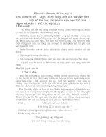 Bài soạn Báo cáo chuyên đề ngữ văn tháng 11