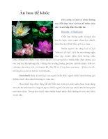 Tài liệu Ăn hoa để khỏe pptx