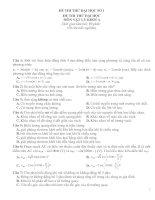 Gián án Đề luyện thi Đại học Môn Vật Lý số 1+2 và đáp án
