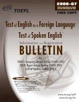 Tài liệu Bullentin for toefl part 1 doc