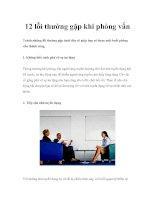 12 lỗi thường gặp trong phỏng vấn