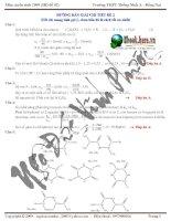 Tài liệu Lời giải chi tiết đề số 2 ôn thi hóa THPT Thống Nhất Đồng Nai doc