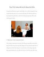 Tài liệu Top 10 kỹ năng nhà tuyển dụng tìm kiếm doc