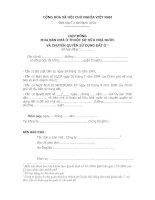 Tài liệu Hợp đồng mua bán nhà ở thuộc sở hữu nhà nước và quyền sử dụng đất pptx