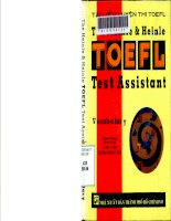 Tài liệu luyện thi toefl The heinle & Heinle Toefl Test Assistant - VOCABULARY
