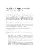 Tài liệu Tìm hiểu các bộ vi xử lý desktop của Intel: Phiên bản 2010 (P1) docx