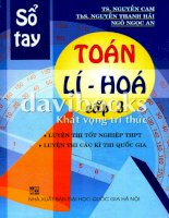 Sổ tay Toán - Lý - Hóa cấp 3_Part1