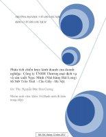Đề tài Phân tích chiến lược kinh doanh của doanh nghiệp: Công ty TNHH Thương mại dịch vụ và sản xuất Ngọc Minh (Nhà hàng Hải Long)