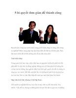 Tài liệu 5 bí quyết đơn giản để thành công pdf