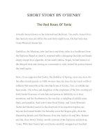 Tài liệu LUYỆN ĐỌC TIẾNG ANH QUA TÁC PHẨM VĂN HỌC-SHORT STORY BY O'HENRY -The Red Roses Of Tonia doc