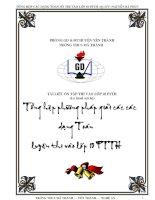 Gián án Tổng hợp các phương pháp giải các dạng toán thi vào lớp 10 PTTH