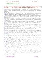 Tài liệu Bài tập ôn thi môn Hóa: Các dạng toán hóa vô cơ (Có đáp số) docx