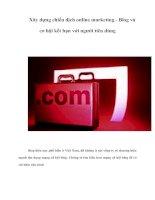 Tài liệu Xây dựng chiến dịch online marketing - Blog và cơ hội kết bạn với người tiêu dùng doc