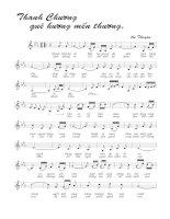 Tài liệu Bài hát Thanh Chương quê hương mến thương - An Thuyên (lời bài hát có nốt) pptx