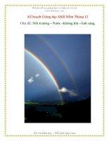 Tài liệu Môi trưởng - Nước - Không khí - Ánh sáng (Khối Mầm) ppt