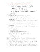 Gián án Giáo án địa 8 cả năm - Chuẩn KTKN