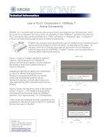 Tài liệu KRONE - White paper - Limitation of RJ21 in Ethernet pptx