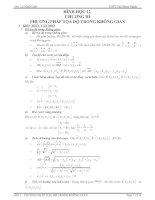 Tài liệu Hình học 12 - Chương III: Phương pháp tọa độ trong không gian pptx