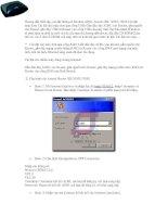 Tài liệu Hướng dẫn thiết lập, cài đặt thông số Modem ADSL pdf