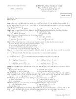 Tài liệu Bộ đề ôn thi tốt nghiệp hệ không phân ban môn lý đề 2 pdf